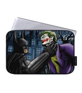 batman and joker printed laptop sleeves